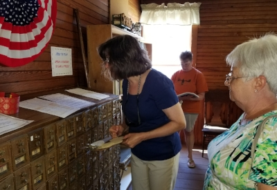 The old Canton Post Office mailbox exhibit was a major attraction, and some attendees recognized their family's original mailboxes! Prizes were awarded for those who could work the combinations.