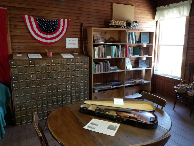 Museum exhibits include a violin made by Canton's Frank Richardson.