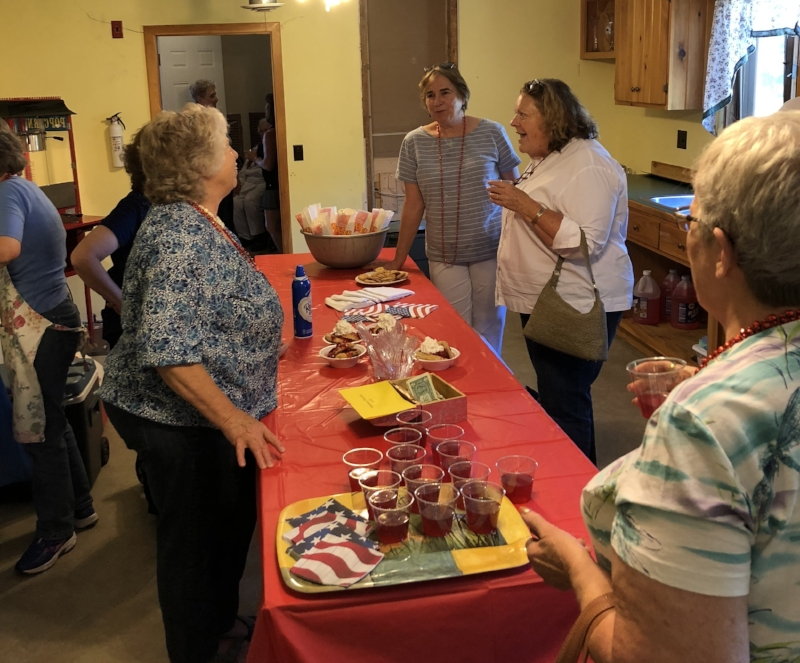 Punch and homemade strawberry shortcake. Thank you bakers and volunteers!