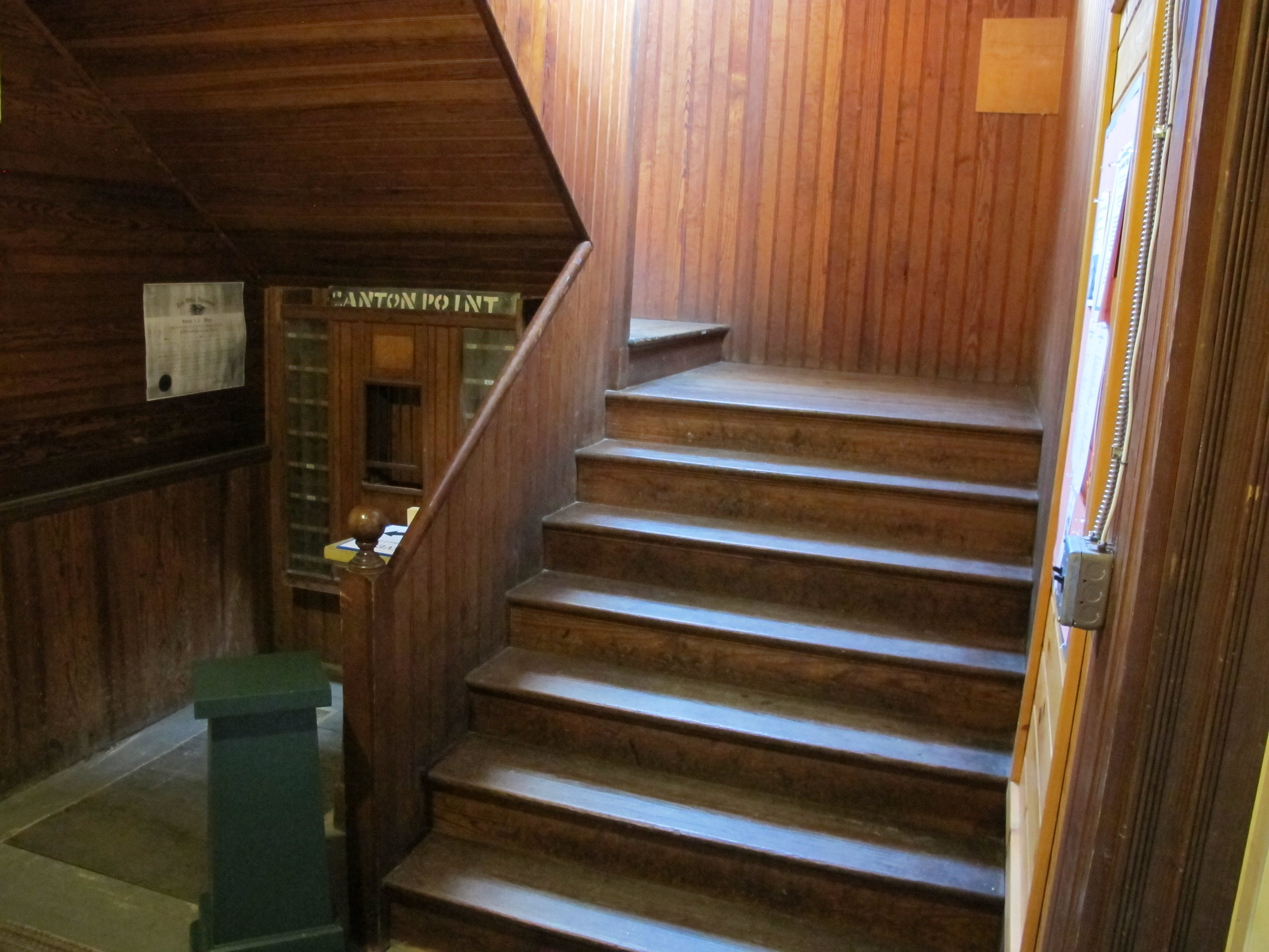 Stairs to Hayford Hall