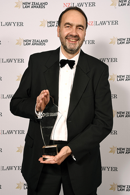 Just after winning the 2017 Mediator of the Year award at the NZ Law Awards
