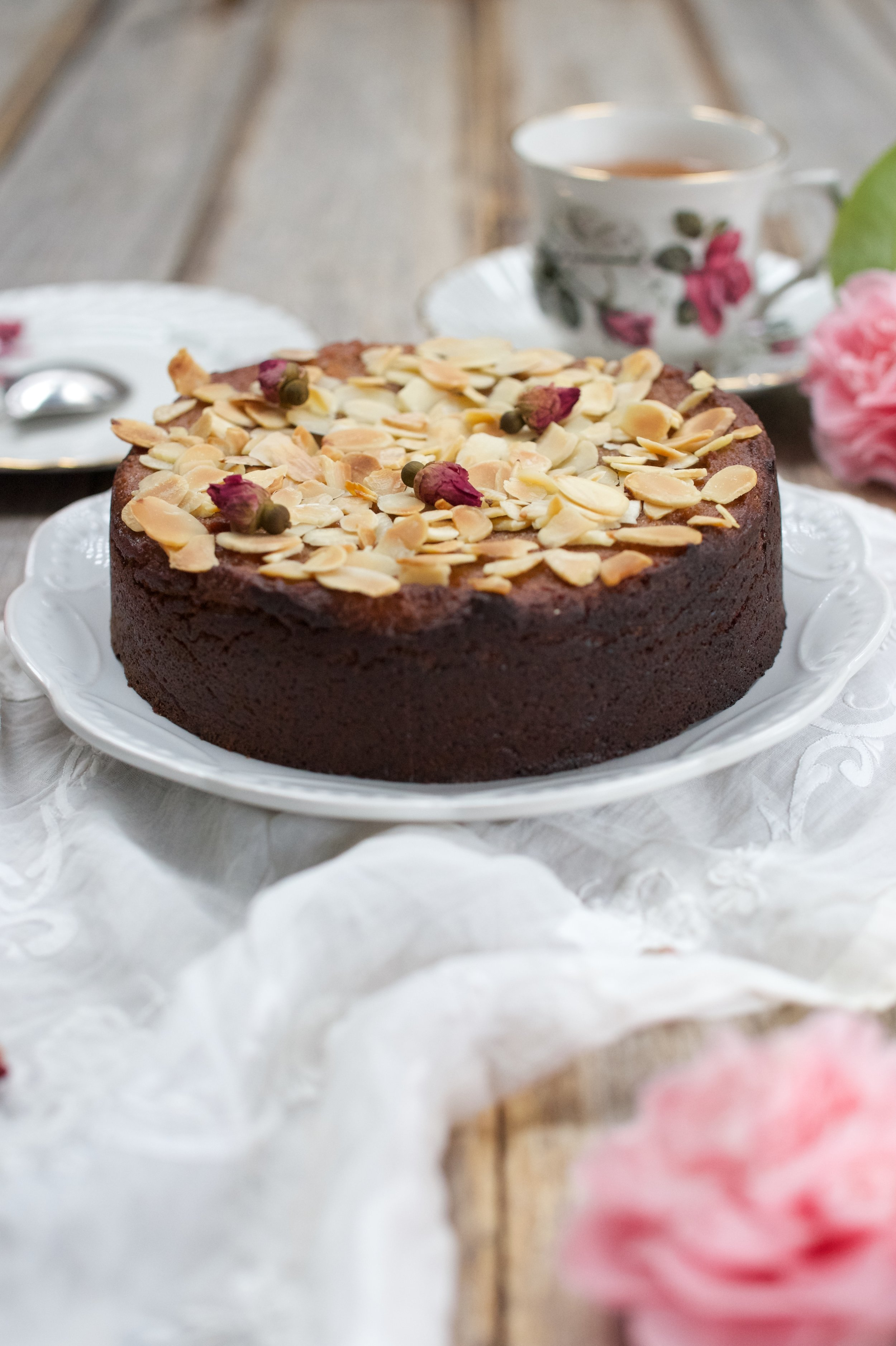 Almond and Rosewater Tea Cake