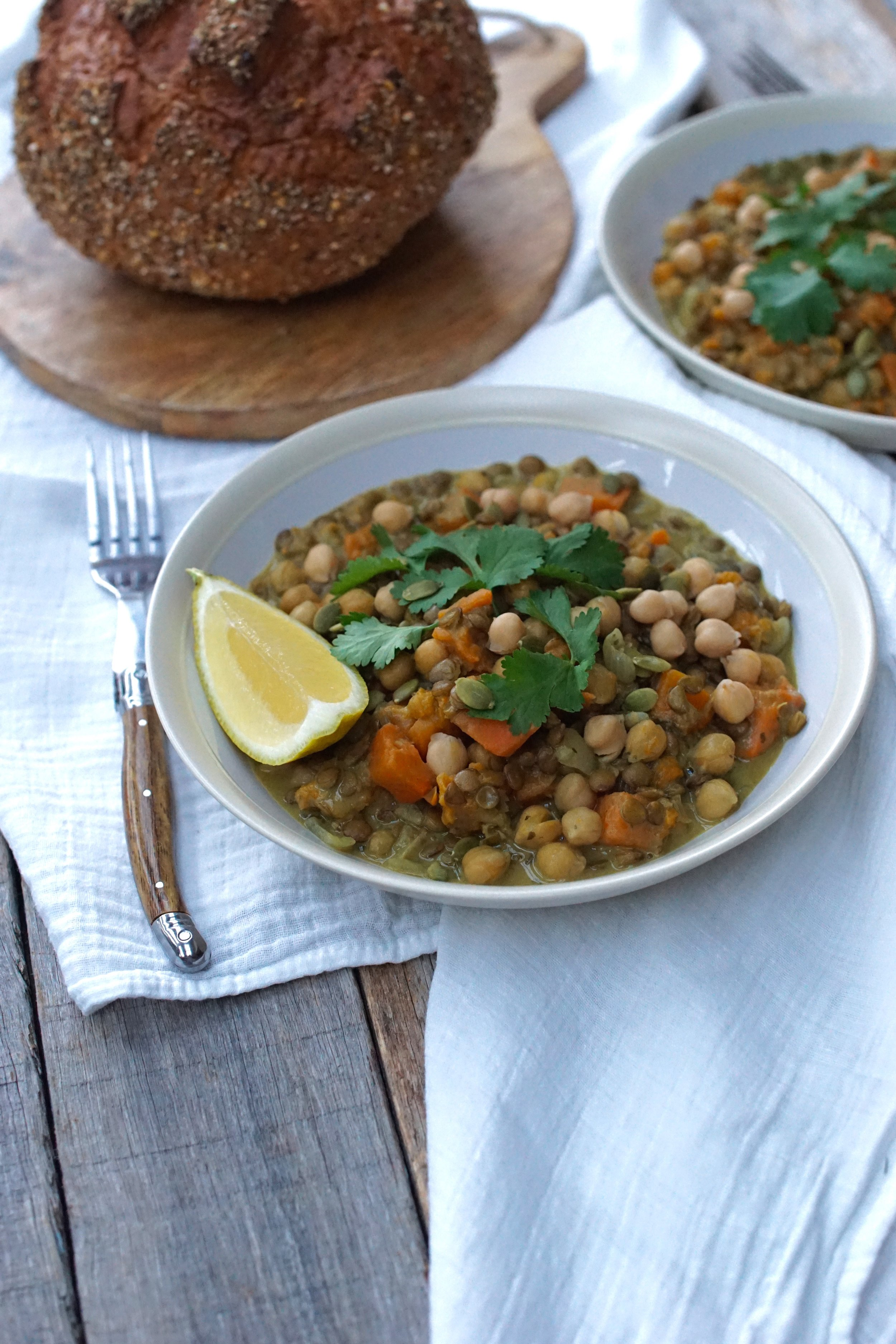 Pumpkin, Chickpea and Turmeric Stew
