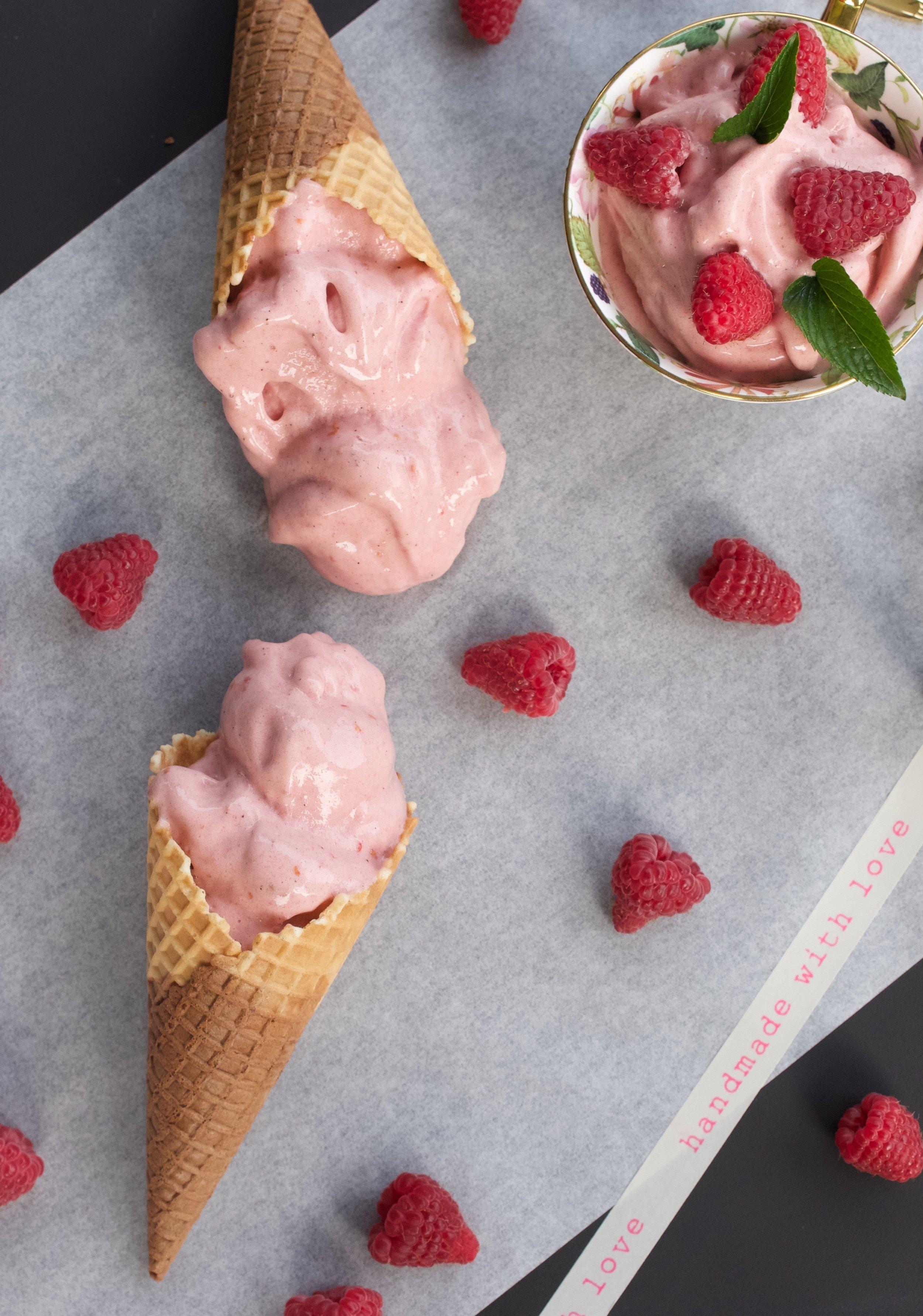 Raspberry Nice Cream