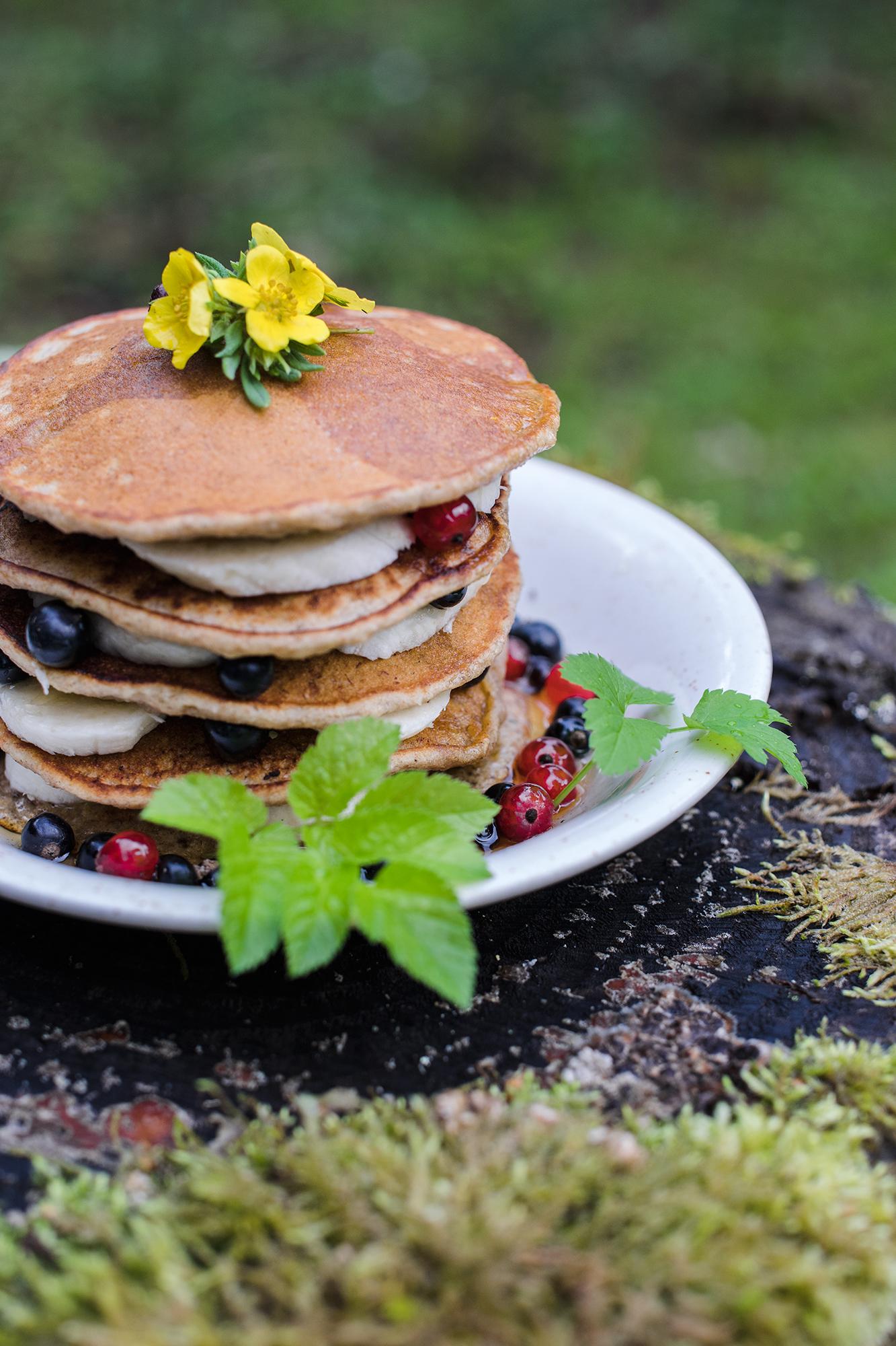 Vegan Banana and Oat Pancakes