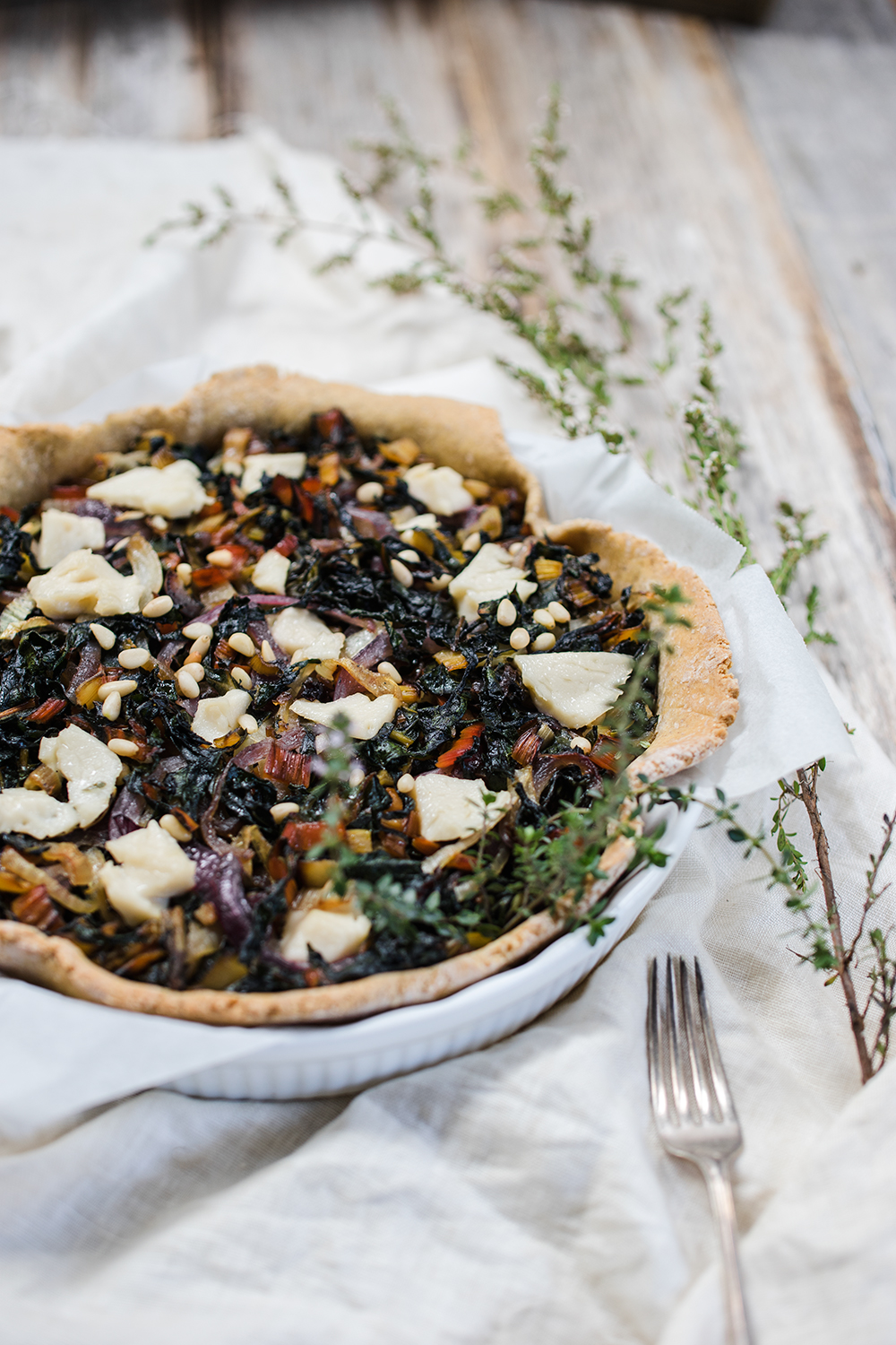 Rustic Chard and Onion Tart