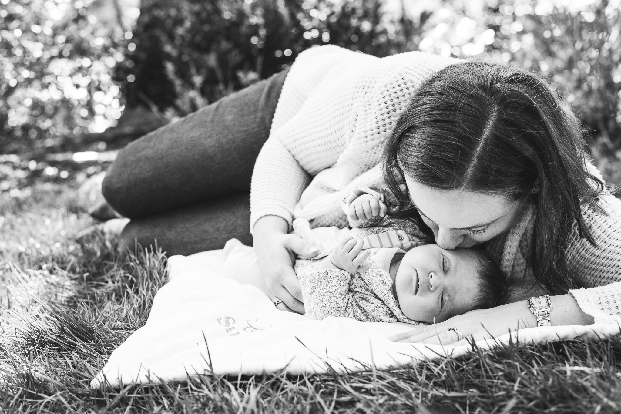 brookland dc black and white newborn photography outside