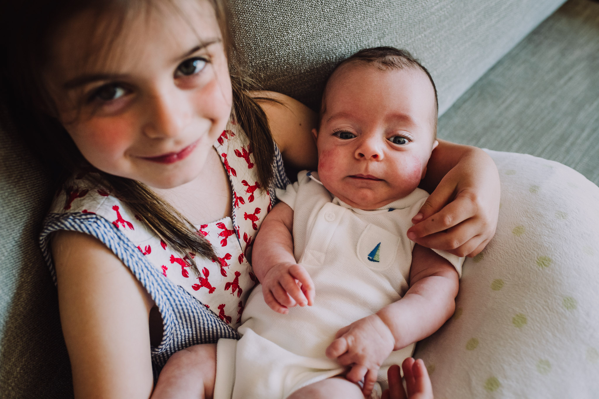 dc baby and sibling lifestyle photograph