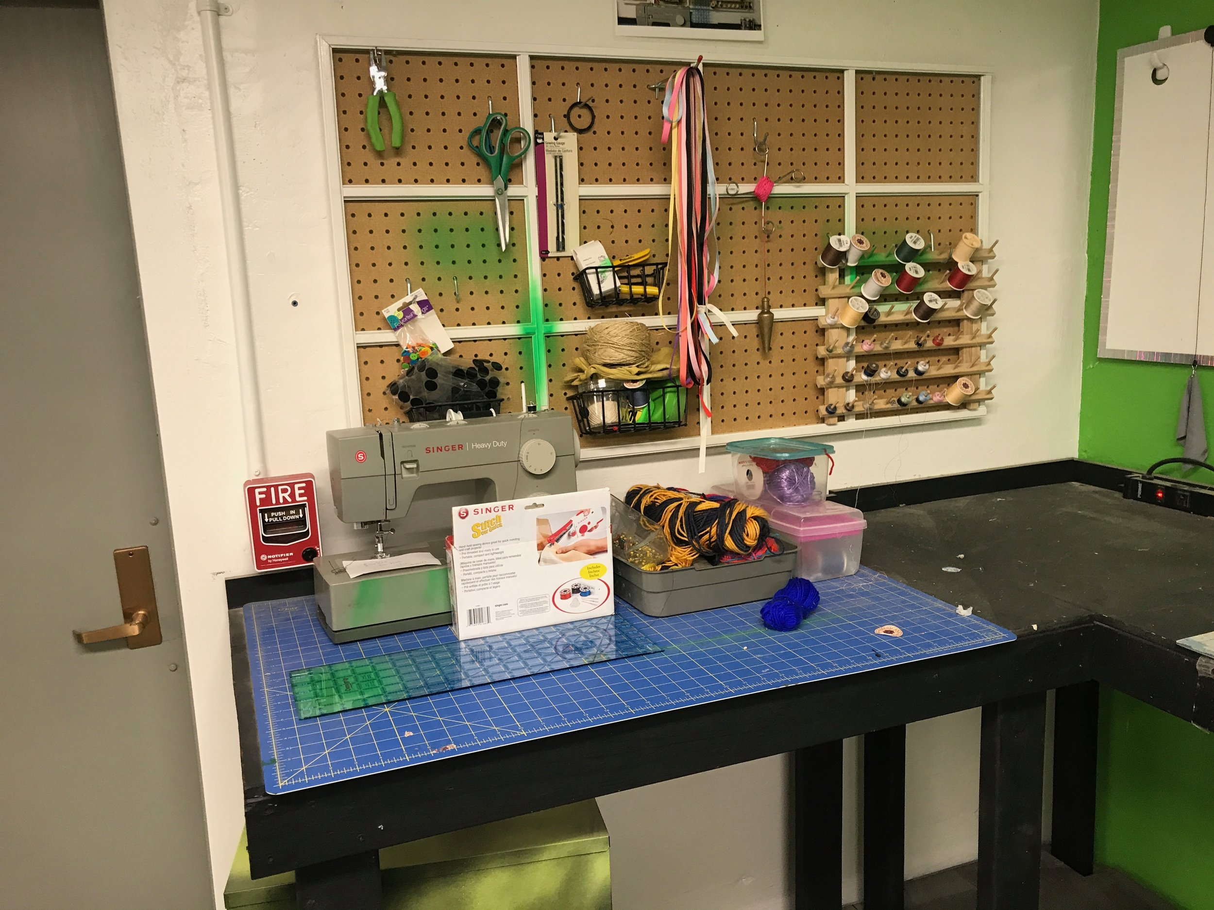 Sewing Machine and Supplies -
