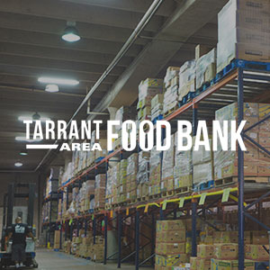 Tarrant Area Food Bank    Weekend meals for children/Teach families how to eat healthy on a budget/Provide fresh food to families in a farmer's market-style setting/community garden/Community Kitchen/administrative tasks    817-857-7100     tafb.org