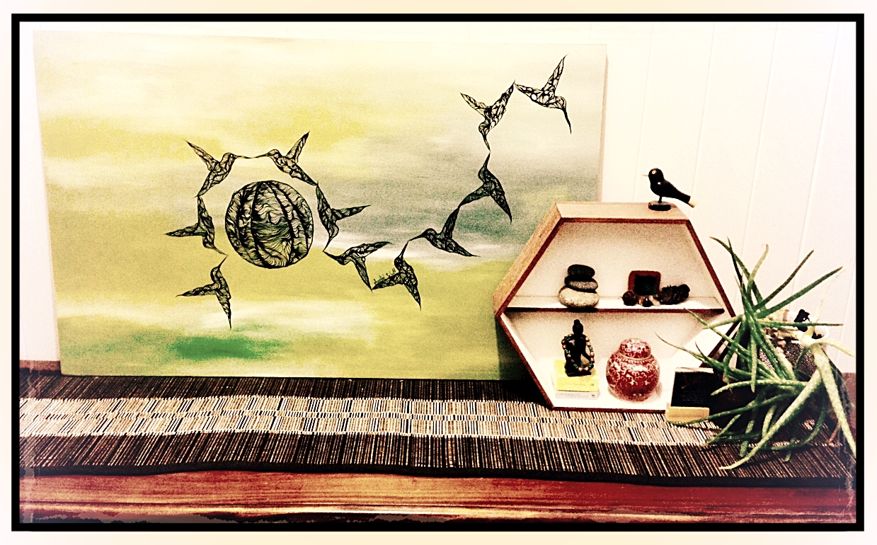 - Chantel Schott's unique artworks and designs adorn my home, bringing in an atmosphere of contemporary vogue. Ranging from ink on timber to mixed media collage, her works are always a conversation starter with friends. I will continue to follow her artistic journey and its evolving nature ~ Trina Bennett, Toowoomba QLD 4350