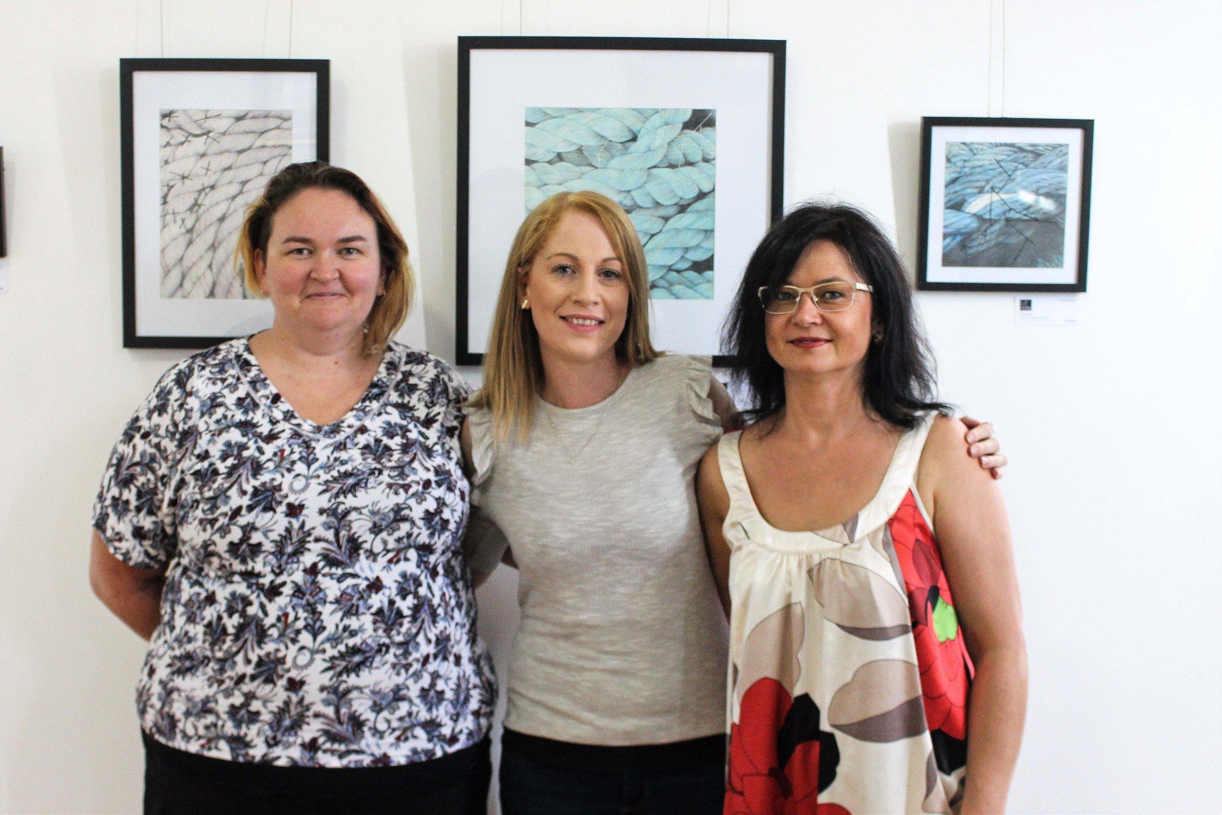 Corrina McLaughlin, Chantel Schott and Renata Buziak. Photography by Rochelle Blakelock.