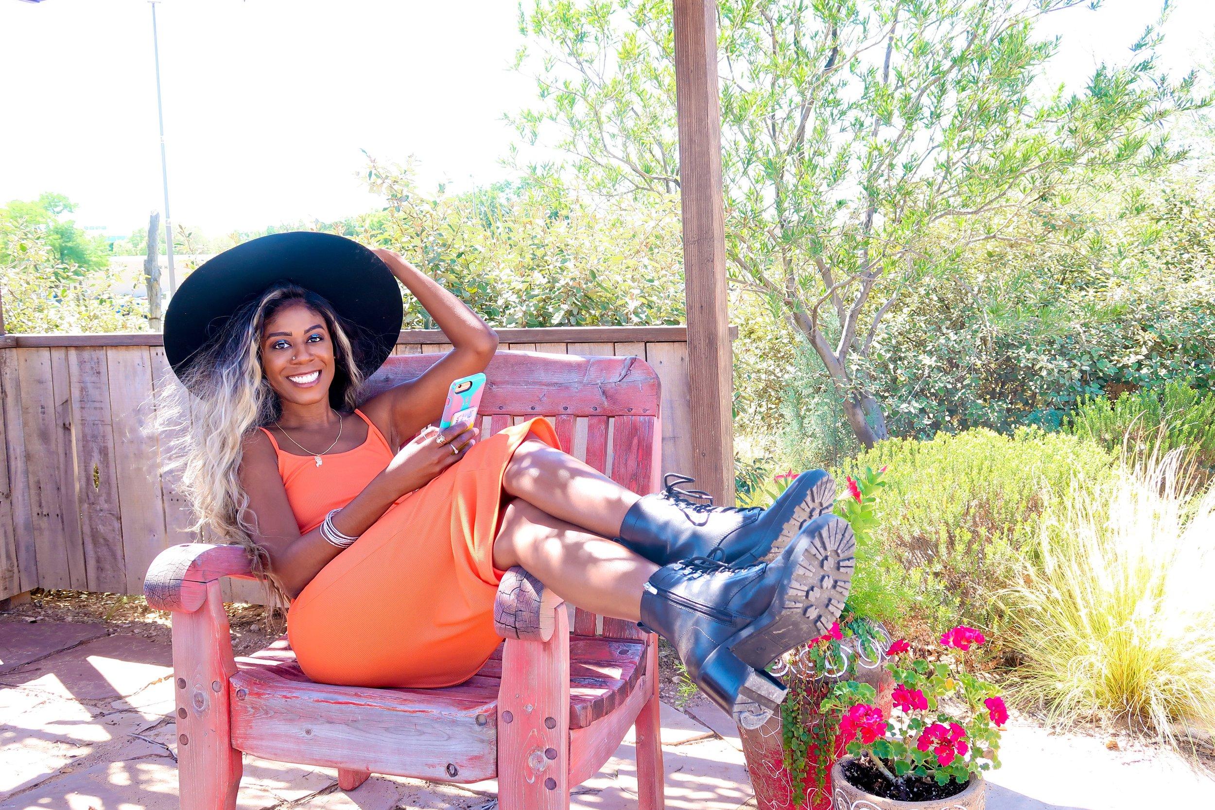 femmeluxe Orange Cami Strap Maxi Dress - Serenna.JPEG