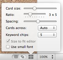 Set width of cards.