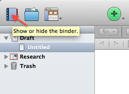 Click to hide the Binder.