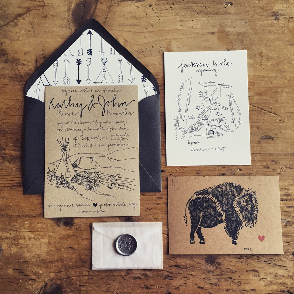 Bird and Buffalo - Custom wedding invitations, stationary, maps and gifts