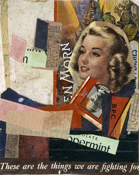 Kurt Schwitters,  'En Morn',  Paper Collage, 1947