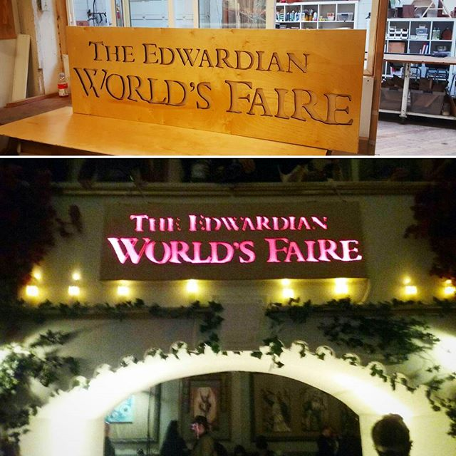 Some of our fine laser cut sign work on display this weekend at the #edwardianball #edwardianballsf. Before and after. #laser #signs #edwardianball2017 #picoftheday #signdesign