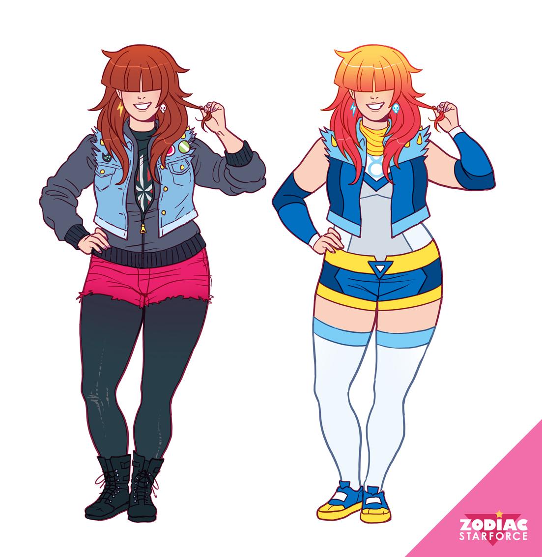 Casual vs magical uniform Kim.