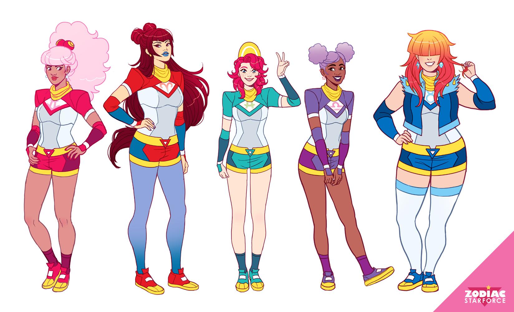 Magical uniform lineup.