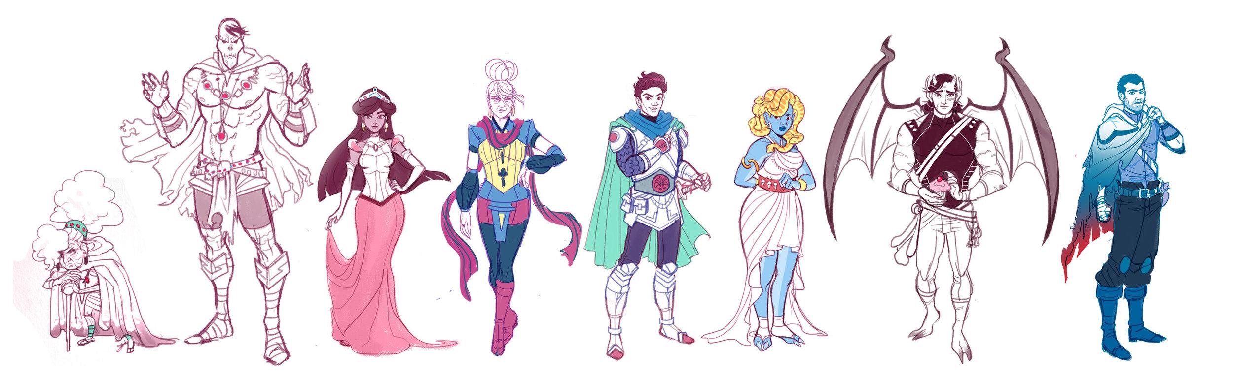 Full character lineup.