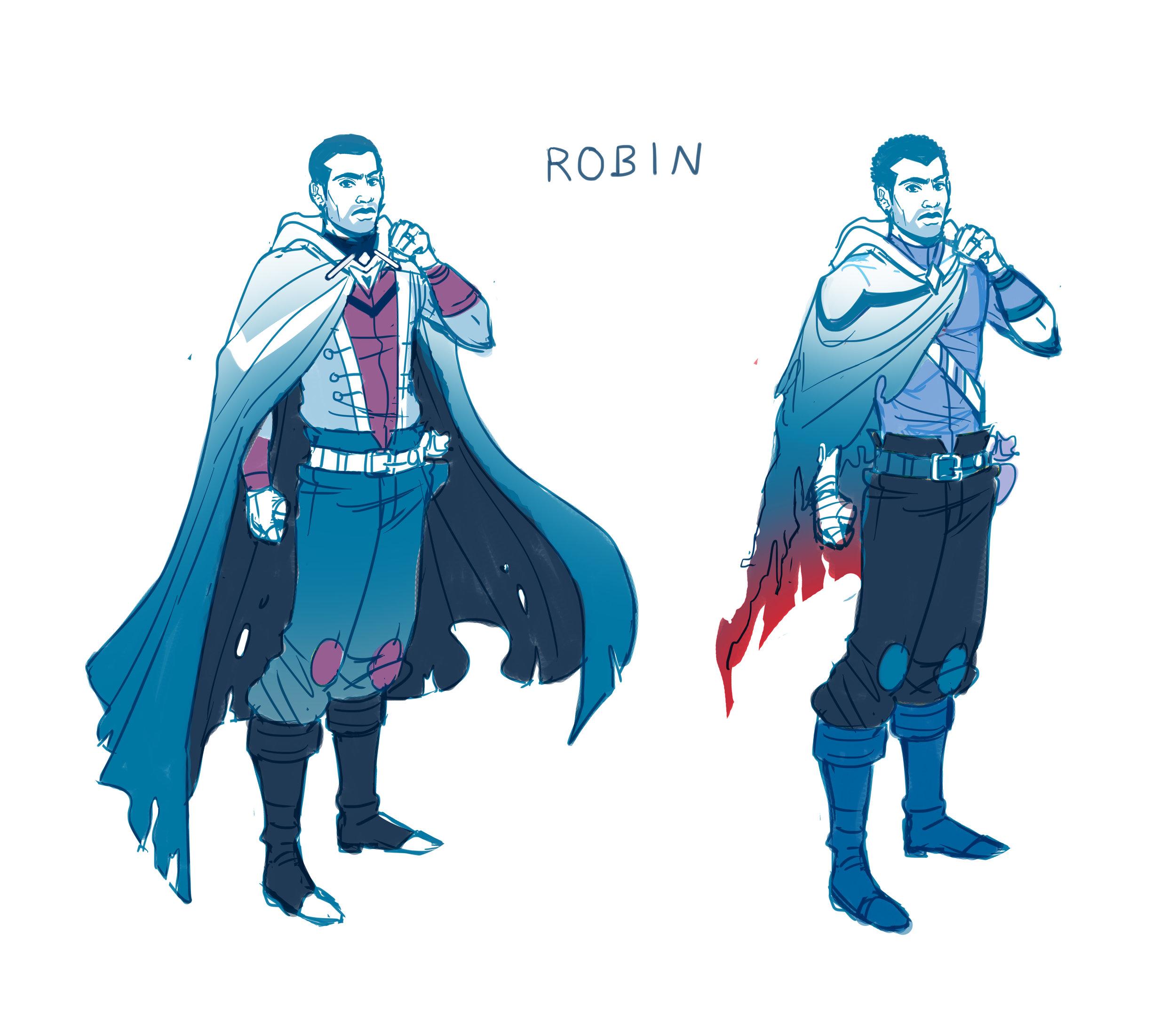 Robin character design.