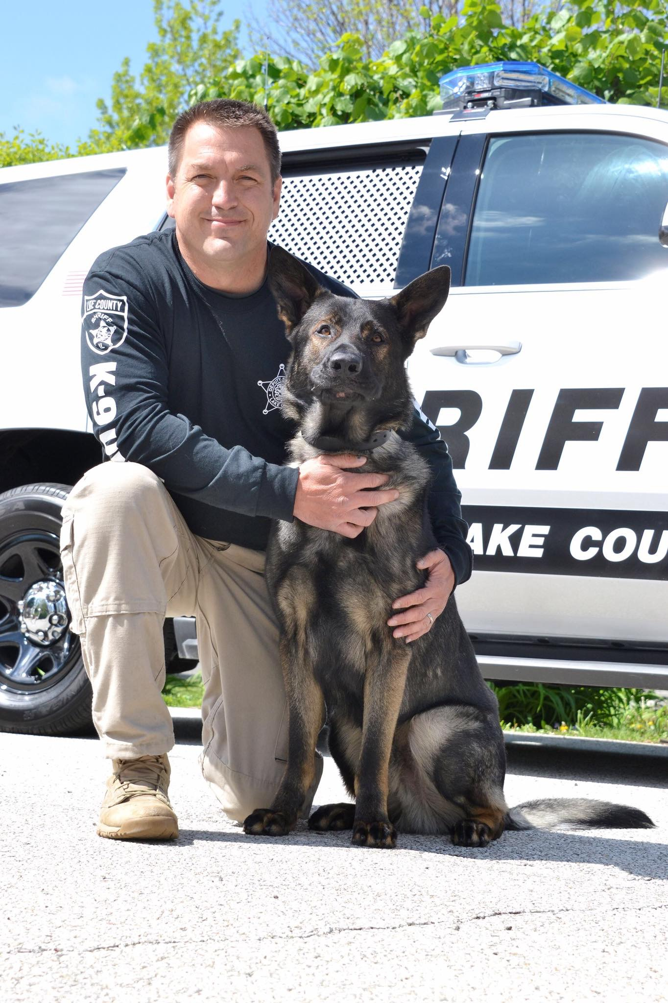 K9 Dax with the Lake County, IL Sheriff's Office won the K9 of The Year award.