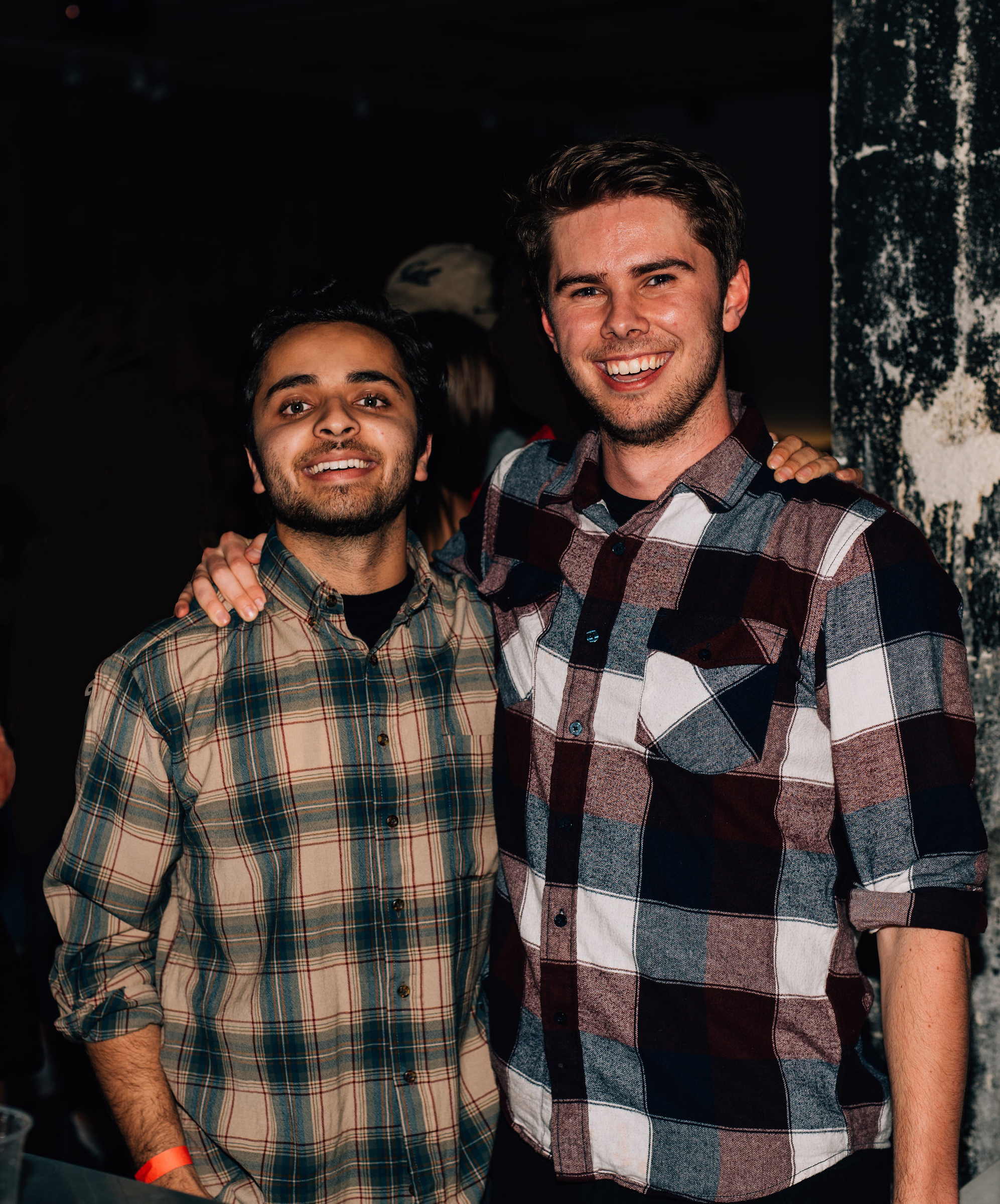 Akbar Khan (left) and Jack Connolly (right) having a good time in Berkeley.