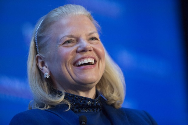 """Ginni Rometty: """"You might call it a watershed moment, an urgent moment, a critical moment, but none of them seem truly sufficient for this   very   unique moment.""""Andrew Harrer/Bloomberg"""