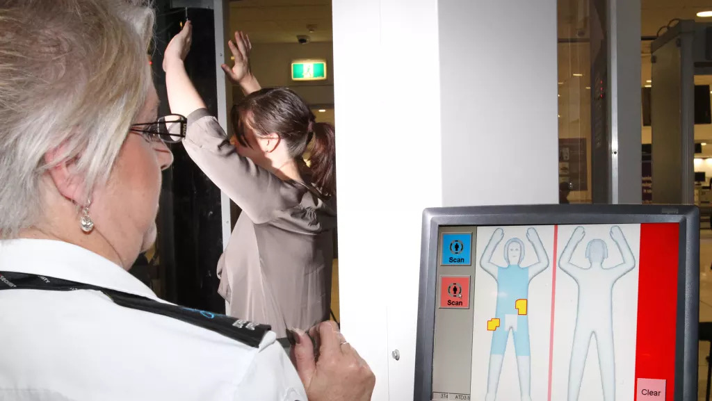 Full body scanners are currently used at international screening points.   Photo: Supplied