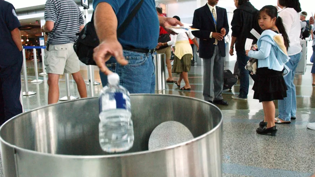 The government has considered restricting liquids on domestic flights.   Photo:AP