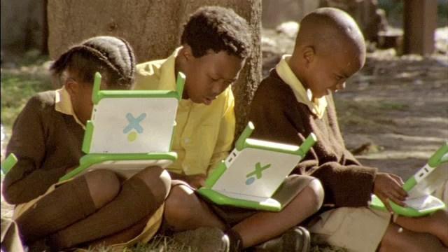 The One Laptop per Child programme equips thousands of African schoolchildren. One Laptop per Child/Flickr