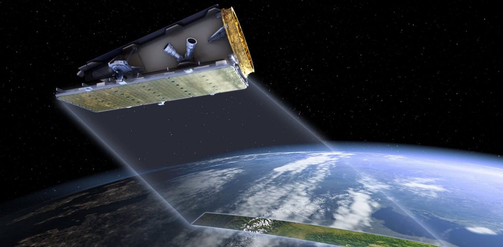The NovaSAR satellite provides near-real-time radar data and can be used to gather data during bushfires, floods and other disasters. (Image: CSIRO)