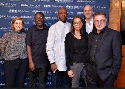 L-R: Paul Papadimitriou, Founder, Intelligencr, Femi Odugbemi, Filmaker, Caroline Creasy, GM Corporate Affairs MultiChoice Africa, Yolisa Phahle, CEO, Video Entertainment, MultiChoice Africa, Anthony Lilley OBE, Professor of Creative Industries, Ulster University/Director, Magic Lantern Productions at the Digital Dialogue conference in Dubai recently