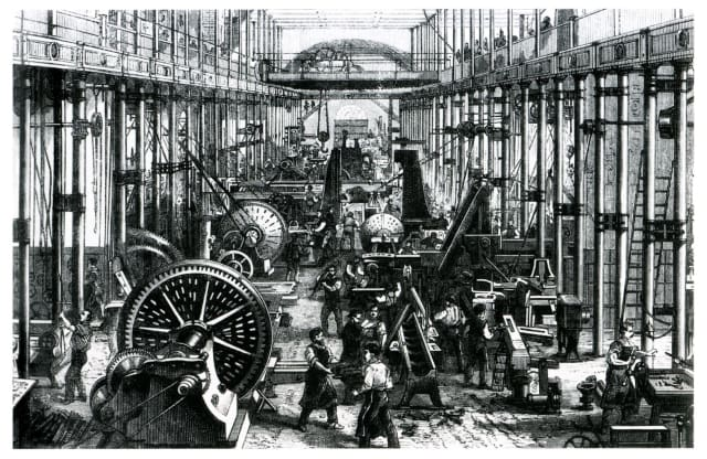 Machine works in Chemnitz circa 1868.