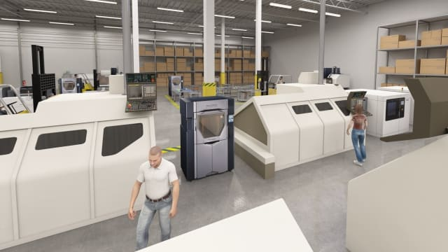 Stratasys' vision of the factory of the future. (Image courtesy of  Stratasys .)