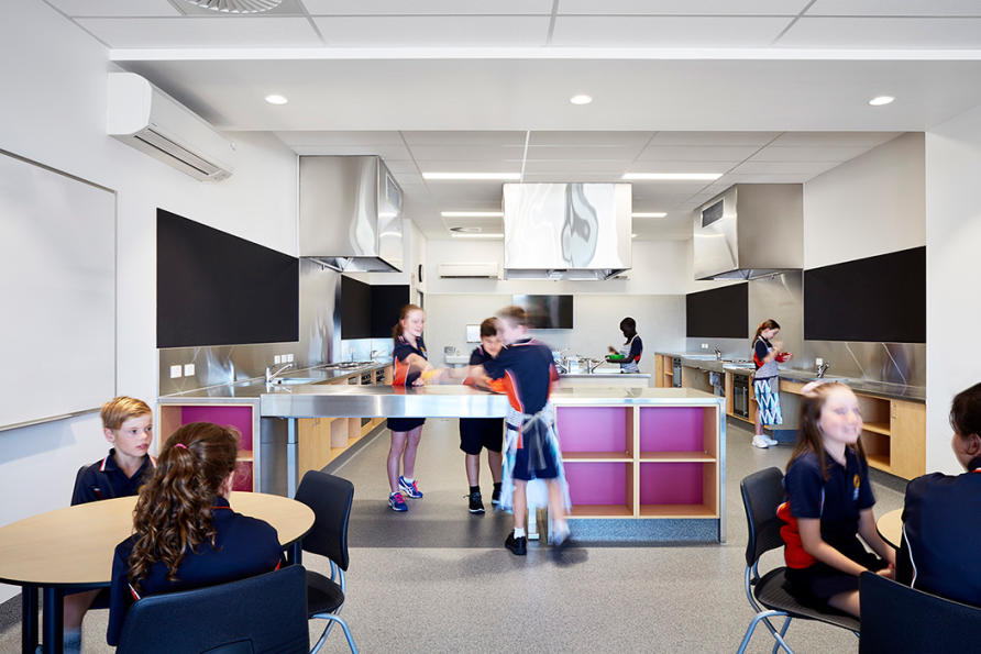 Primary schools need spaces that support a range of curricula, like this one at Armstrong Creek School in Greater Geelong, by Clarke Hopkins Clarke Architects. Picture: Rhiannon Slatter