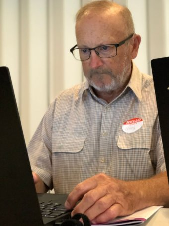 PHOTO: Gregory Housego says improving digital literacy was essential in a modern world.(ABC Sunshine Coast: Kylie Bartholomew)