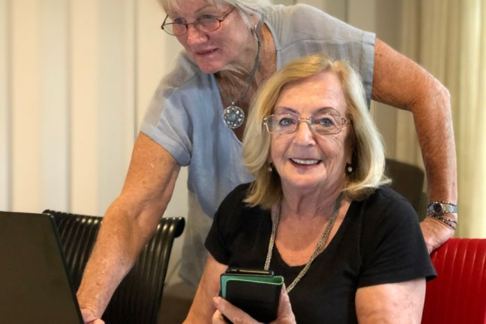 "PHOTO: Daphne Dunphy says persisting with the online learning is ""strengthening"".(ABC Sunshine Coast: Kylie Bartholomew)"
