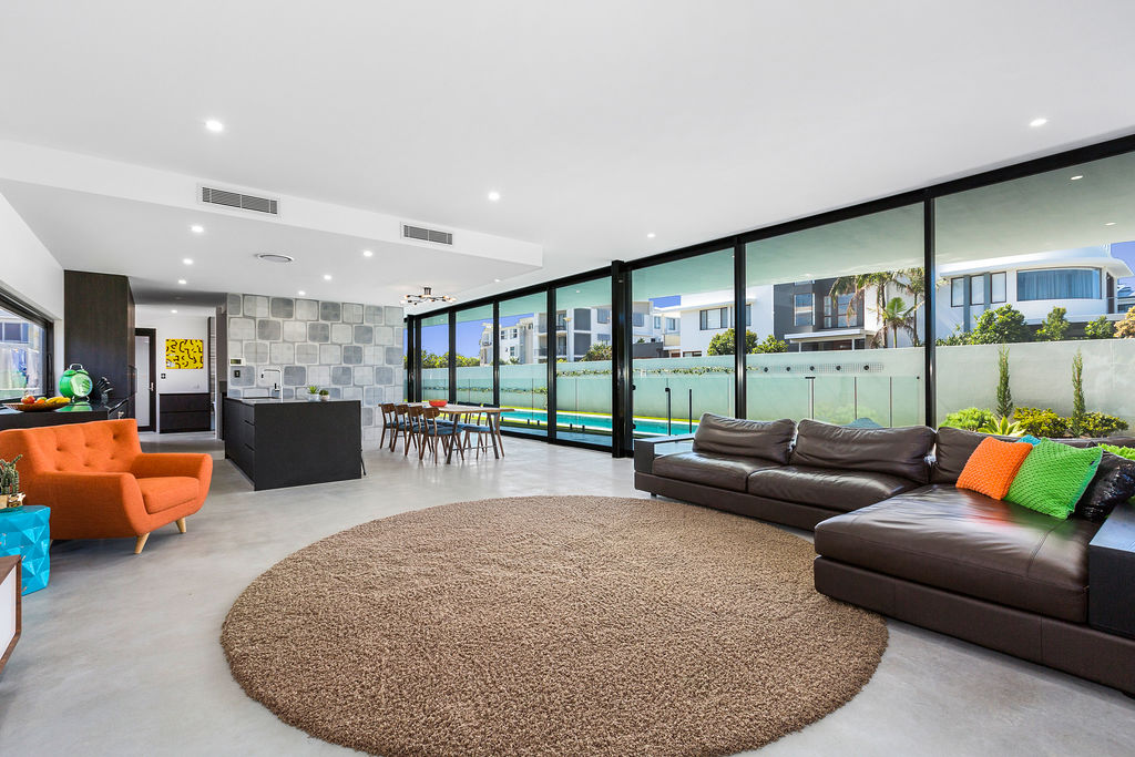 The futuristic-styled home in northern NSW, will be auctioned on April 8. Photo: LJ Hooker Kingscliff