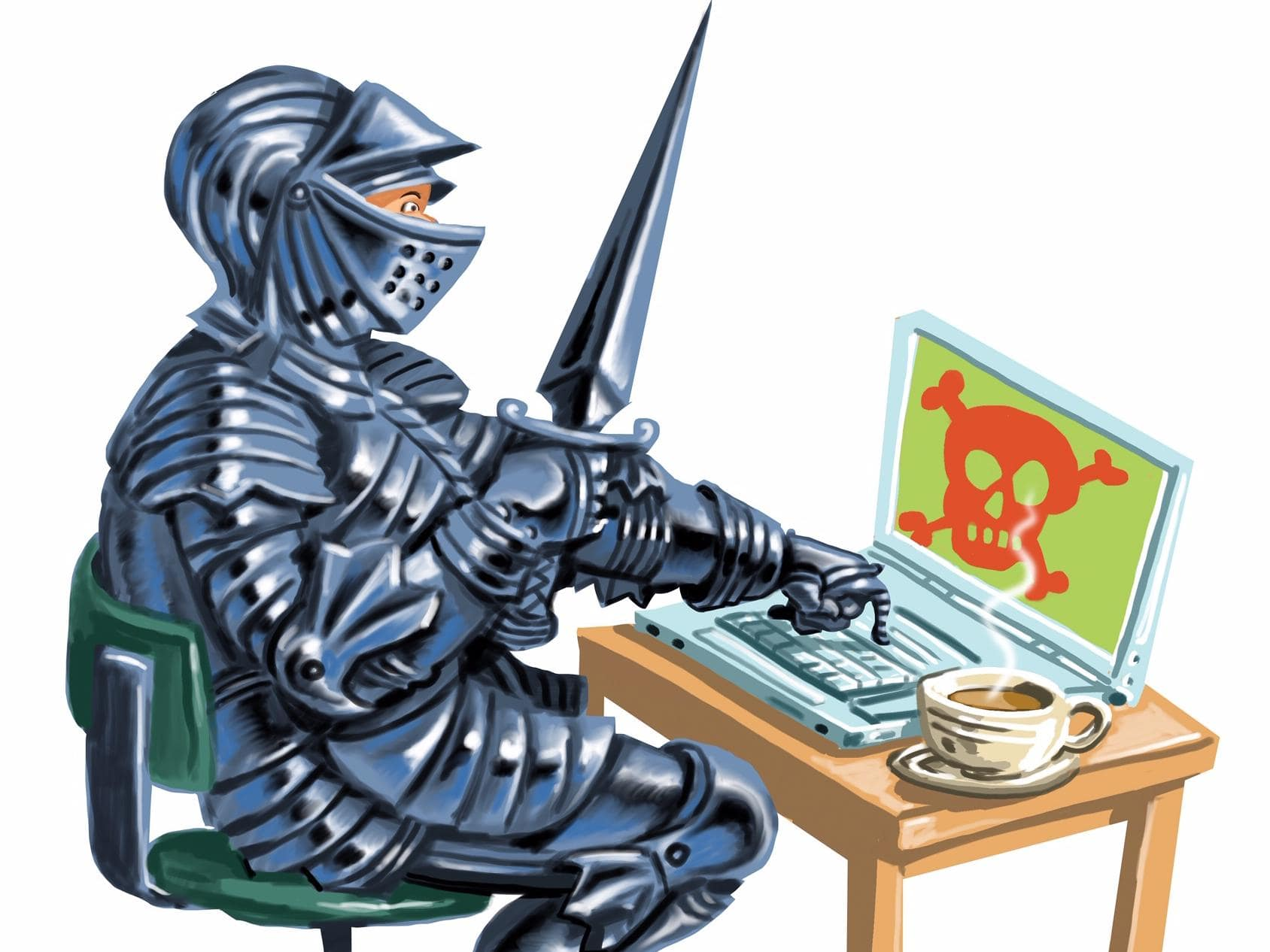 Stay same from online scammers trying to steal your money. Illustration: John TiedemannPicture:Supplied