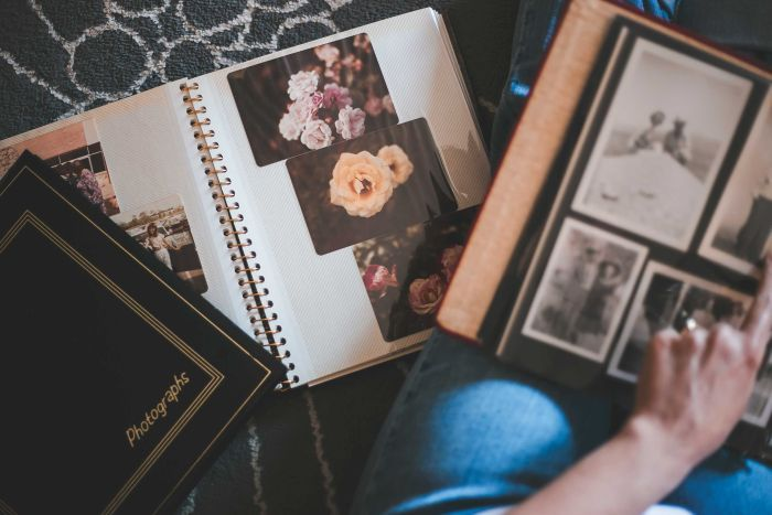 PHOTO:  Photo albums are easy enough to pass on, but what about digital albums? (Unsplash: Julie Johnson/CC0)