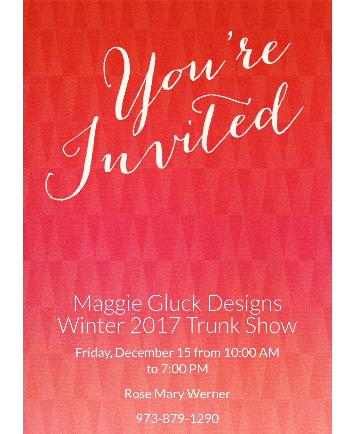 Maggie Gluck Winter Show
