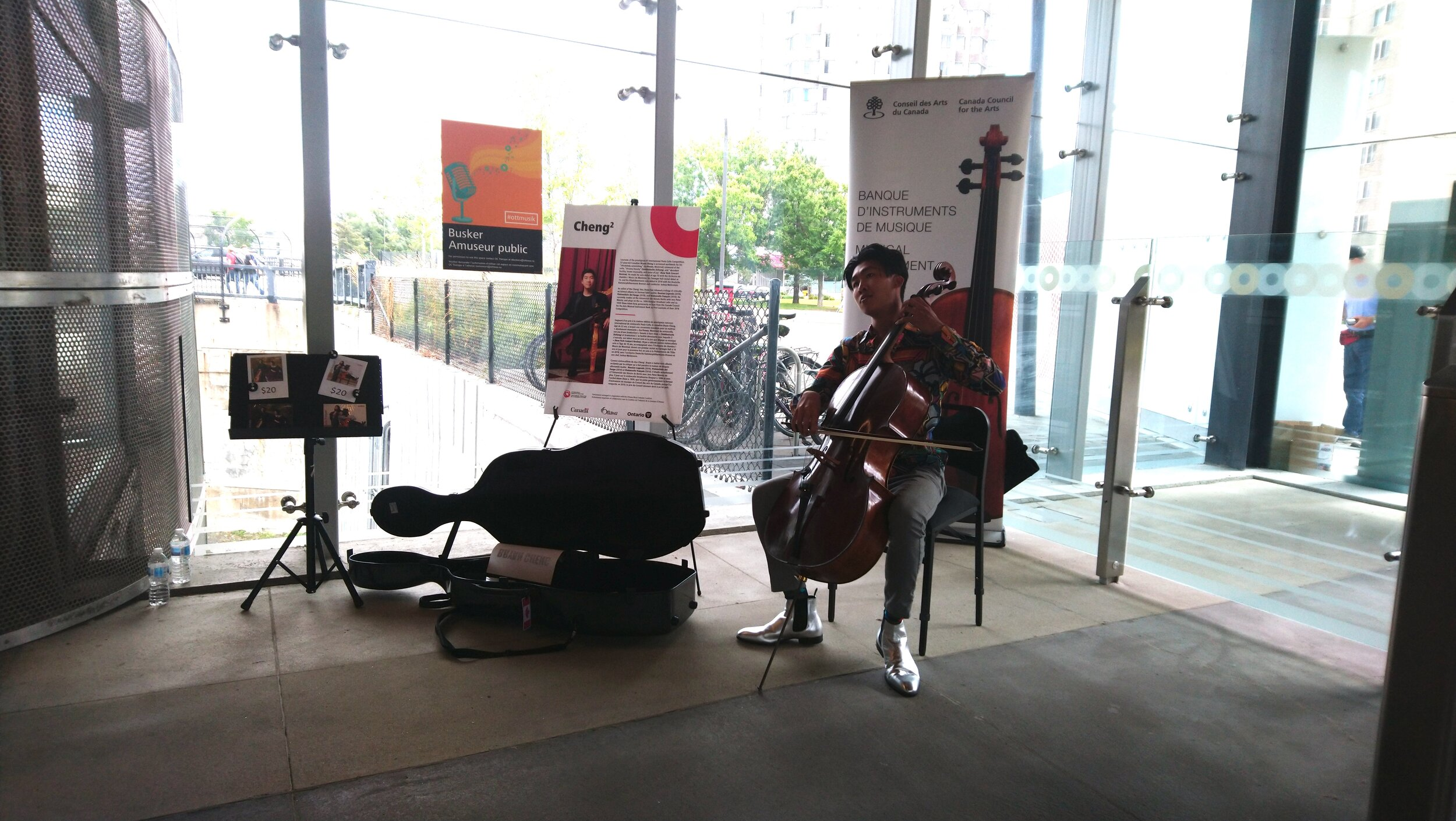Bryan Cheng of the Cheng² Duo at Lees Station.