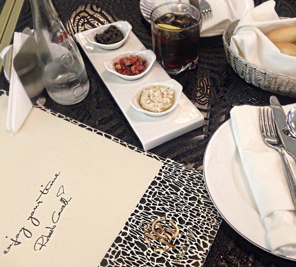 Great lunch at the Cavalli Café - Kingdom Tower - Riyadh