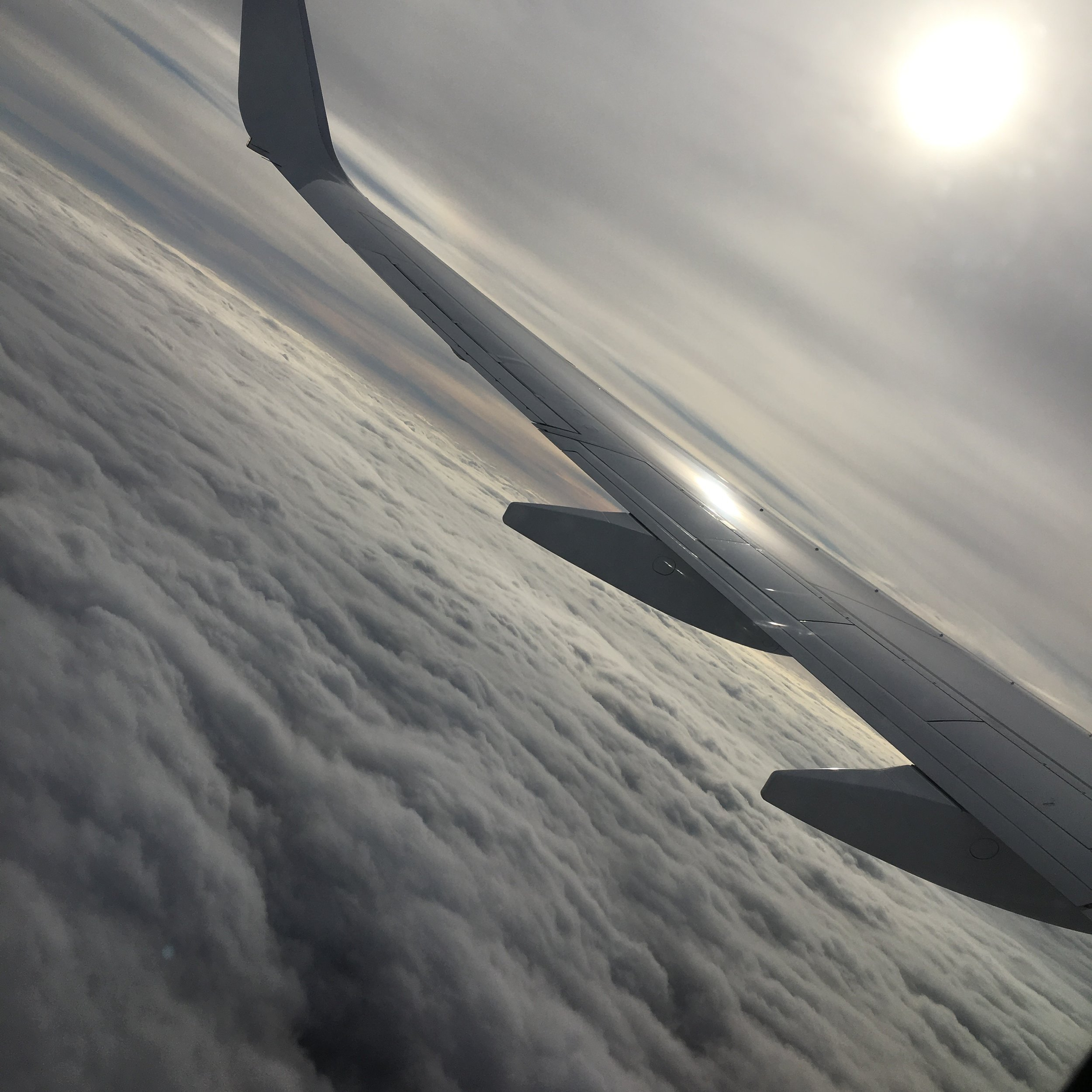 Beautiful view over the clouds