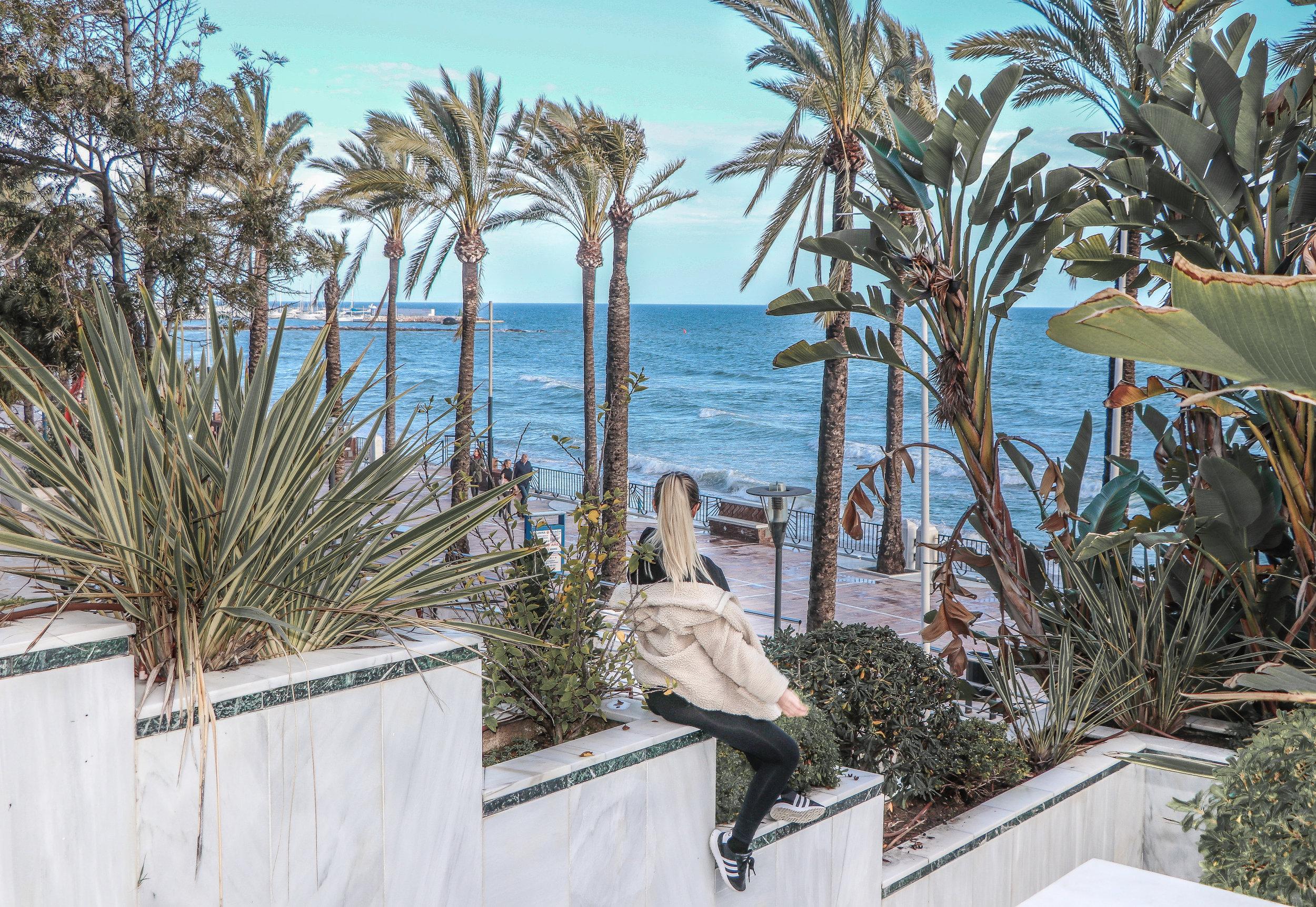 Marbella ocean and beach walk Spain photo by Linda Haggh.jpg