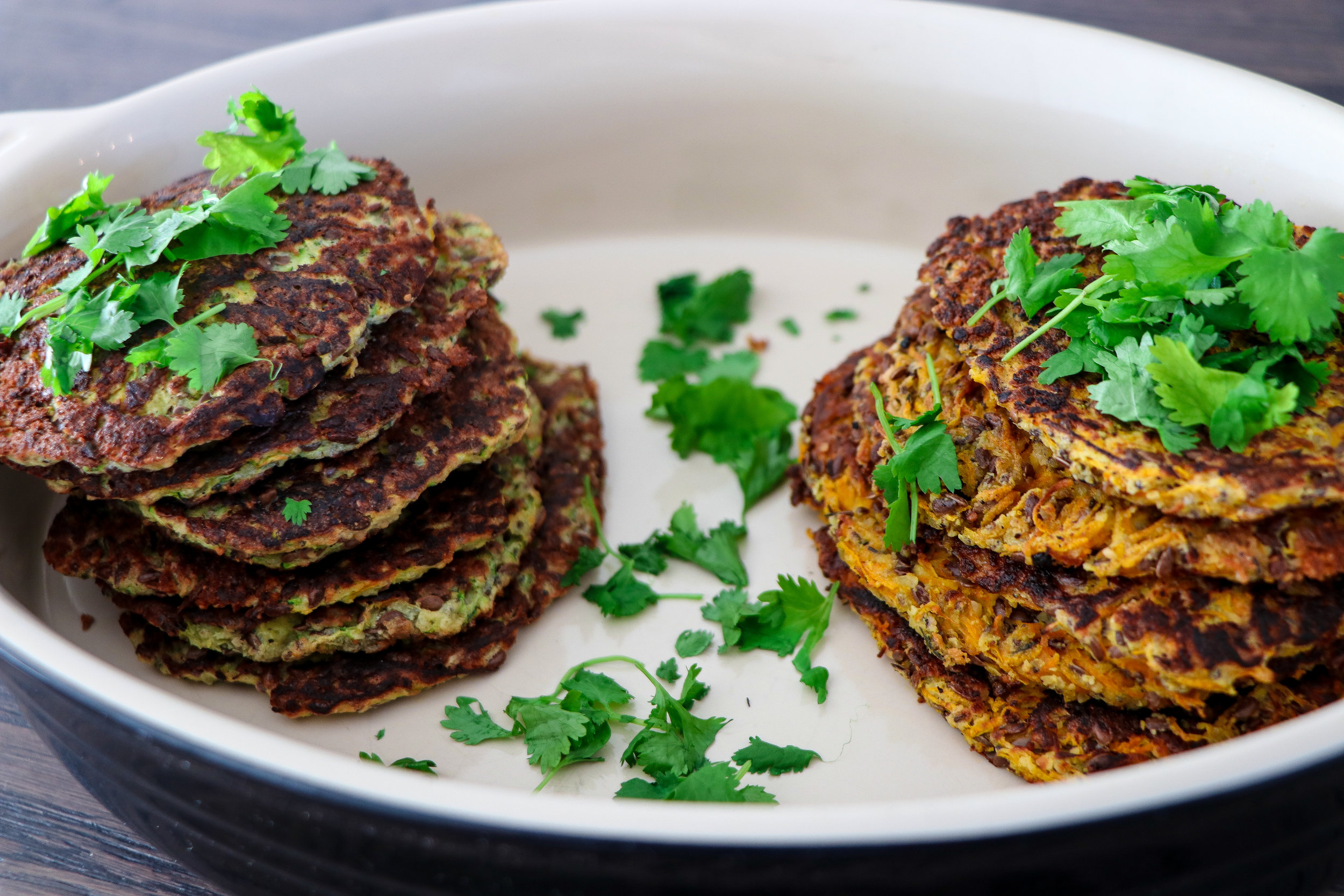 Healthy carrot and zucchini crepes dinner photo by Linda Haggh.jpg