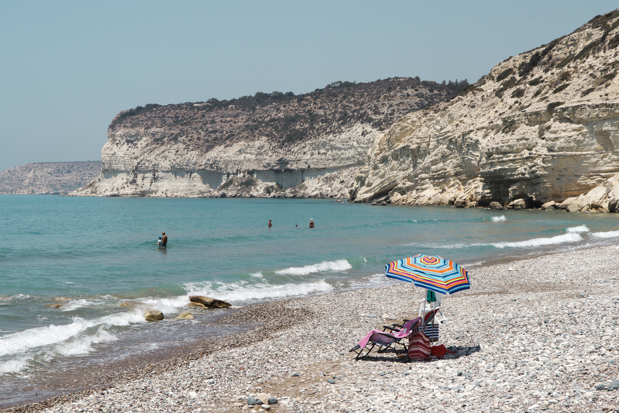 A beach on our way from Limassol to Afrodite Rock