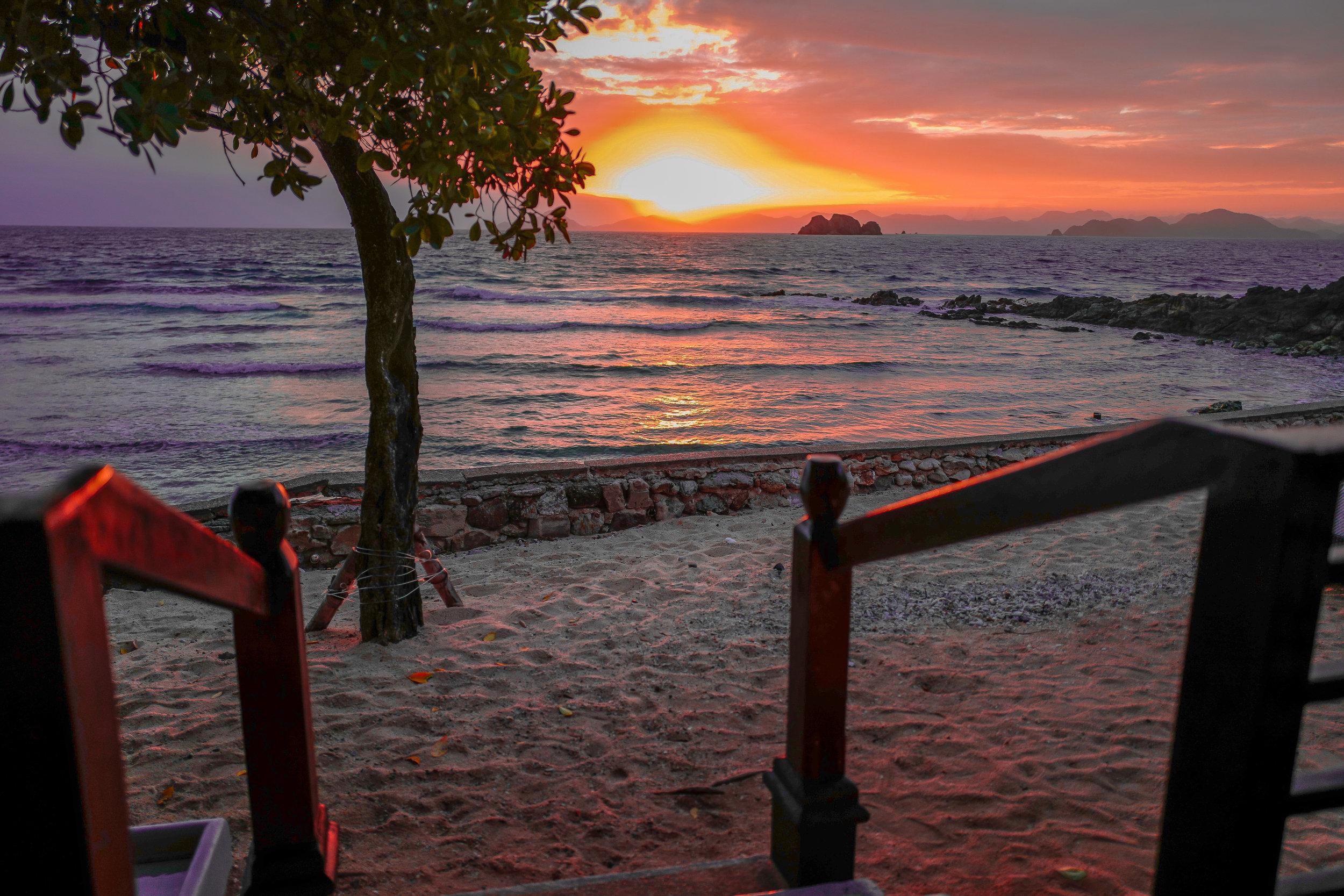 Magical sunrise from our sunrise Villa
